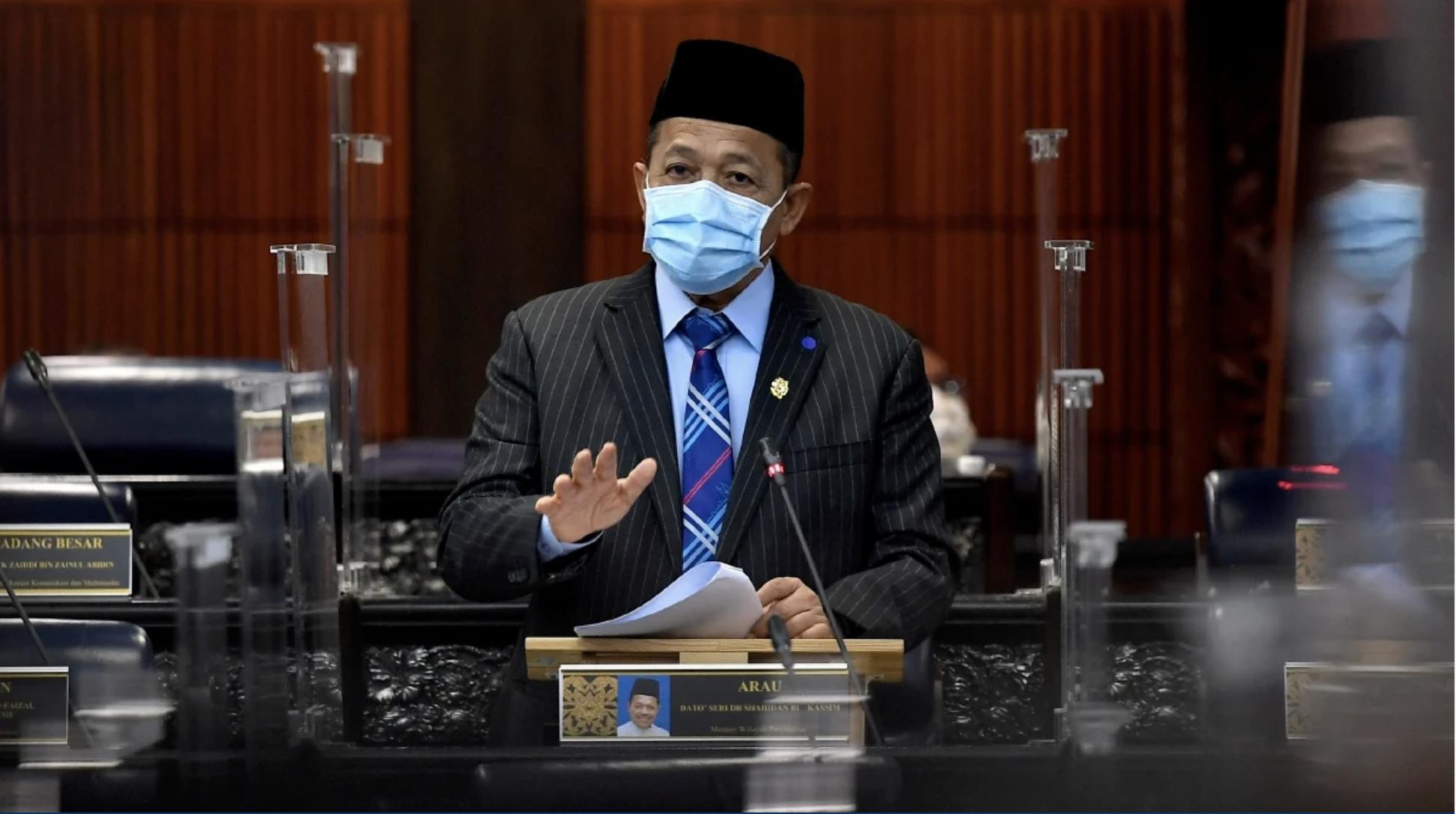 Shahidan in the Parliament